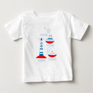 Meer, Schiffe, Leuchttürme Baby T-shirt
