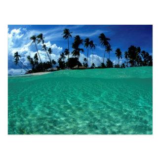 Meer und Insel, Indonesien Postkarte