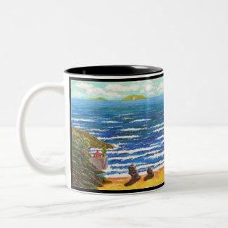 Meer und Leben. 100 Wörter mit Meerblick von PU Zweifarbige Tasse