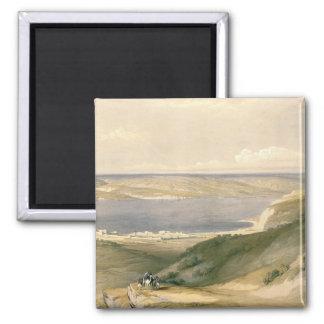 Meer von Galiläa oder von Genezareth, blickend in  Quadratischer Magnet