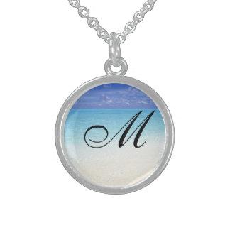 Meerblick-Anfangsanhänger Sterlingsilber Halsketten