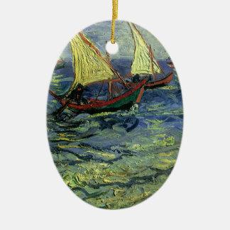 Meerblick bei Saintes Maries durch Vincent van Ovales Keramik Ornament