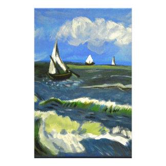 Meerblick bei Saintes-Maries, Van Gogh Briefpapier
