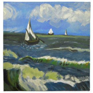 Meerblick bei Saintes-Maries, Van Gogh Serviette