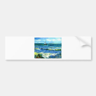 Meerblick bei Saintes-Maries, Vincent van Gogh Autoaufkleber