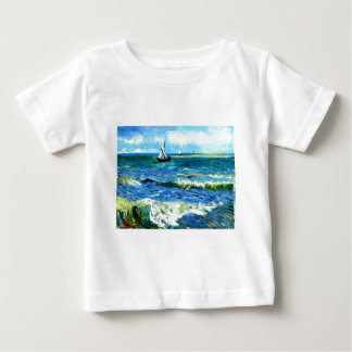Meerblick bei Saintes-Maries, Vincent van Gogh Baby T-shirt