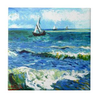 Meerblick bei Saintes-Maries, Vincent van Gogh Keramikfliese