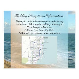 Meerblick-Blau und Brown-Ozean-Strand-Hochzeit 11,4 X 14,2 Cm Flyer