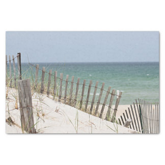 Meerblick durch den Strandzaun Seidenpapier