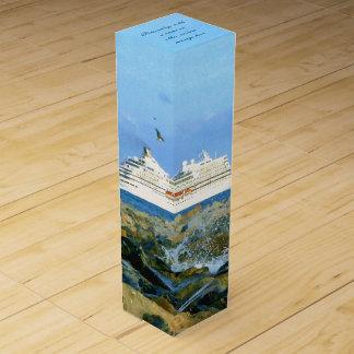 Meerblick mit dem Kreuzfahrt-Schiff personalisiert Wein-Geschenkverpackung