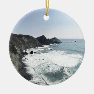 Meerblick-Pazifikküste-Landstraße großes Sur Keramik Ornament