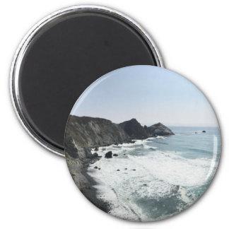 Meerblick-Pazifikküste-Landstraße großes Sur Runder Magnet 5,7 Cm
