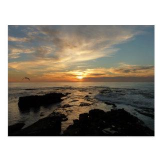 Meerblick San Diego Sonnenuntergang-I Kalifornien Postkarte