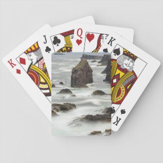 Meerblick und Seestapel, die Shetlandinseln Spielkarten