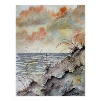 Meerblickmalereifall-Herbstfarben Postkarte