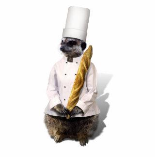 Meercat Koch mit Stangenbrot Ausschnitte