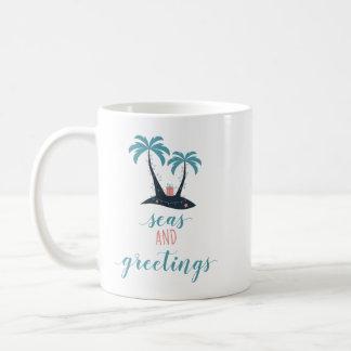 Meere und Gruß-Weihnachten Kaffeetasse