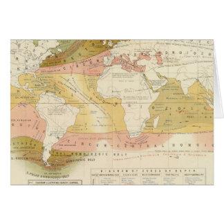 Meeresflora und -fauna karte