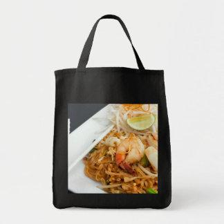 Meeresfrüchte-Auflage-thailändische gebratener Rei Einkaufstasche