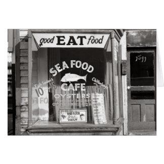 Meeresfrüchte Cafe, 1937 Karte