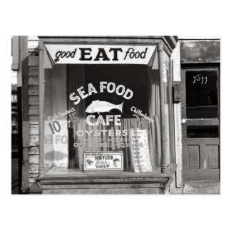 Meeresfrüchte Cafe, 1937 Postkarte