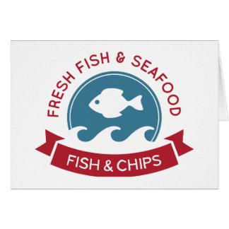 Meeresfrüchte-Logo der Fisch- und Karte