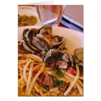 Meeresfrüchte-Teigwaren-Muschel-Nahrung Karte