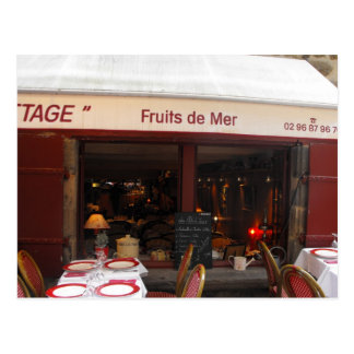 Meeresfrüchterestaurant Frankreich Fruits de Mer Postkarte