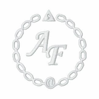 Meeresjacke weißes besticktes Logo AF Bestickte Fleece Track Jacke
