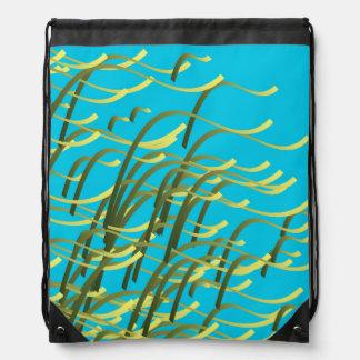 Meerespflanze auf Aqua Turnbeutel