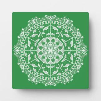 Meerespflanze-Mandala Fotoplatte