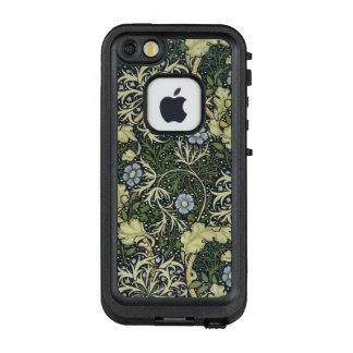 Meerespflanze-Muster-Vintage mit Blumenkunst LifeProof FRÄ' iPhone SE/5/5s Hülle