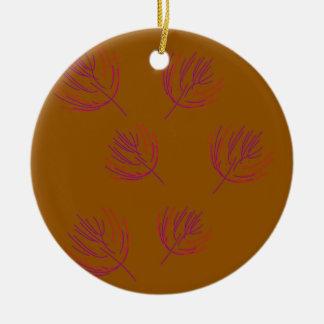Meerespflanzebraun Keramik Ornament
