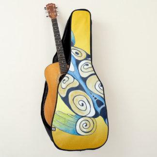 Meeresschildkröte auf Gelb Gitarrentasche