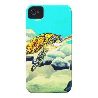 Meeresschildkröte, die schönes blaues Meer malt iPhone 4 Hüllen