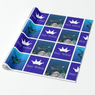 Meeresschildkröte-Geburtstags-Packpapier Geschenkpapier