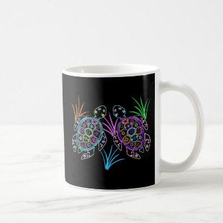 Meeresschildkröte-Glühen Kaffeetasse