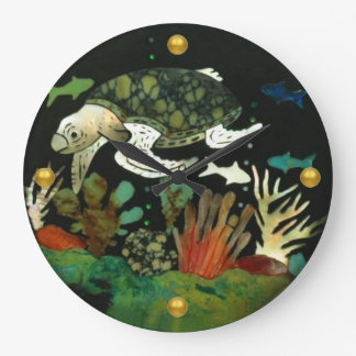 Meeresschildkröte Große Wanduhr