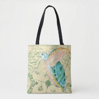 Meeresschildkröte-Karte Tasche