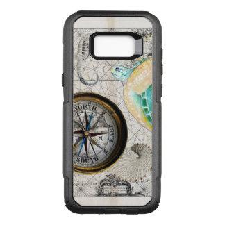 Meeresschildkröte-Karten-Beige OtterBox Commuter Samsung Galaxy S8+ Hülle
