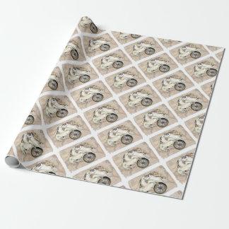 Meeresschildkröte-Kompass-Karte Geschenkpapier