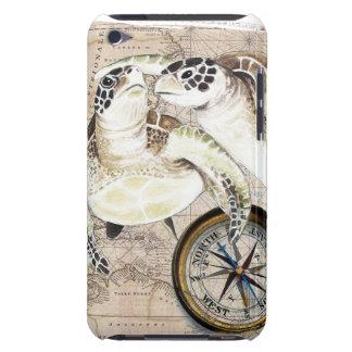Meeresschildkröte-Kompass-Karte iPod Case-Mate Case