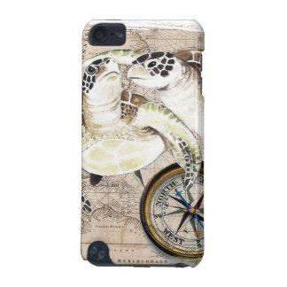 Meeresschildkröte-Kompass-Karte iPod Touch 5G Hülle