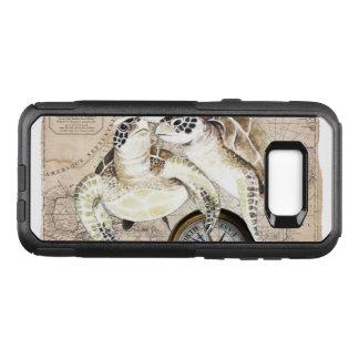 Meeresschildkröte-Kompass-Karte OtterBox Commuter Samsung Galaxy S8+ Hülle