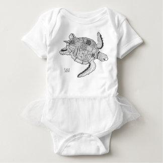Meeresschildkröte Lineart Entwurf Baby Strampler