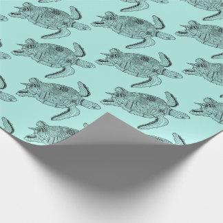 Meeresschildkröte Lineart Entwurf Geschenkpapier