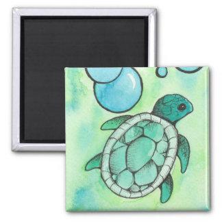 Meeresschildkröte Quadratischer Magnet