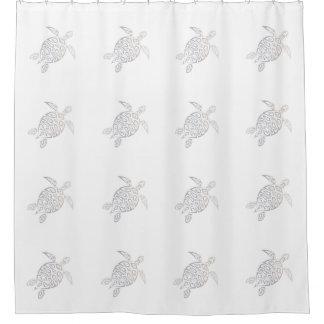 Meeresschildkröte-Stammes- Muster-beige Weiß Duschvorhang