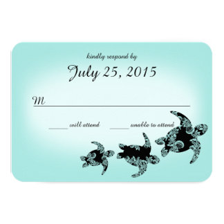 Meeresschildkröte-Wartekarte 8,9 X 12,7 Cm Einladungskarte