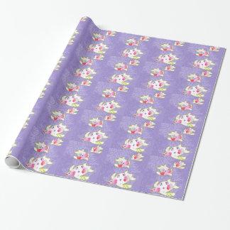 Meeresschildkröten auf einfachem violettem geschenkpapier